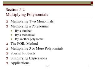 Section 5.2 Multiplying Polynomials