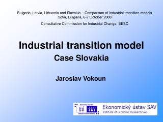 Industrial transition model Case Slovakia
