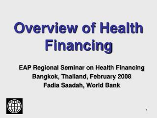 Overview of Health Financing