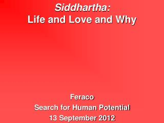 Siddhartha: 