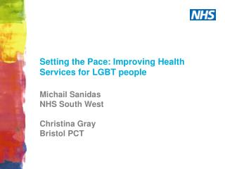 Setting the Pace: Improving Health Services for LGBT people