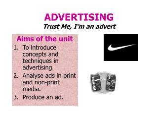 ADVERTISING Trust Me, I'm an advert
