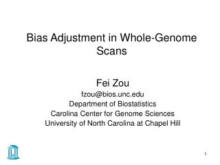 Bias Adjustment in Whole-Genome Scans
