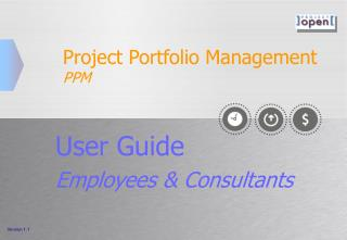 Project Portfolio Management PPM