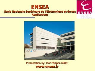 ENSEA Ecole Nationale Supérieure de l'Electronique et de ses Applications