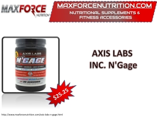 AXIS LABS INC. N'Gage