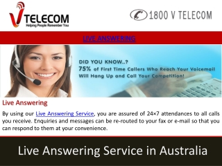 live answering service providers in australia