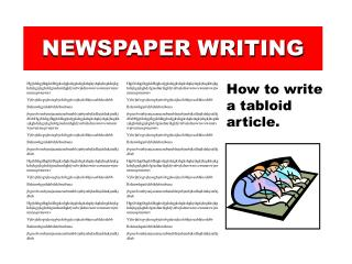 newspaper writing