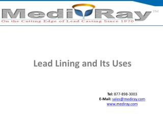 Lead Lining and Its Uses