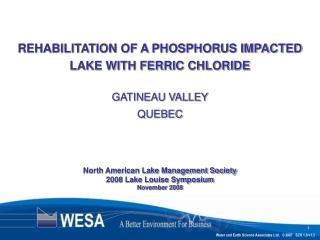 North American Lake Management Society 2008 Lake Louise Symposium November 2008
