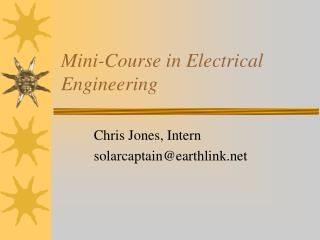 mini-course in electrical engineering