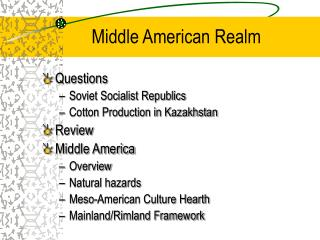 Middle American Realm