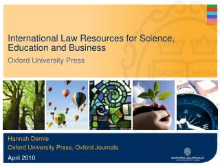 International Law Resources for Science, Education and Business