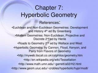 Chapter 7: Hyperbolic Geometry