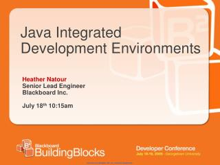 Java Integrated Development Environments