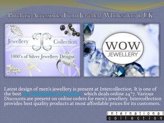 Purchase Accessories From Jewellery Wholesalers in UK