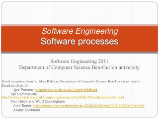 Software Engineering Software processes
