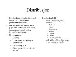 Distribusjon