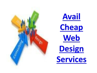 Avail Cheap Web Design Services