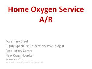 Home Oxygen Service A/R