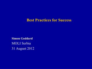 Best Practices for Success