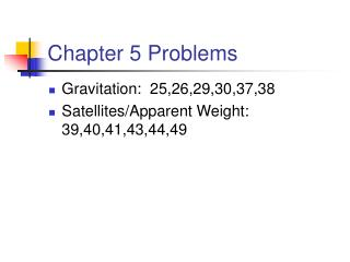 Chapter 5 Problems