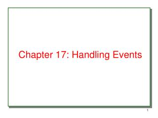 Chapter 17: Handling Events