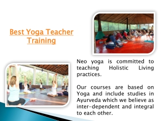 INDIA Yoga certification Courses