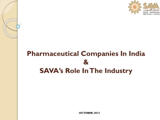 Pharmaceutical Companies In India