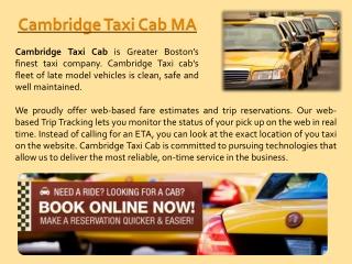 Taxi Cab Cambridge Call Us At 617-649-7000
