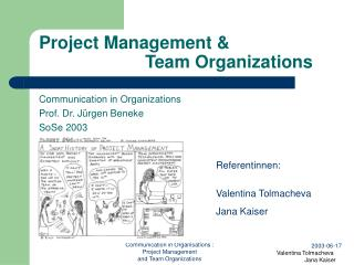 Project Management & 			Team Organizations