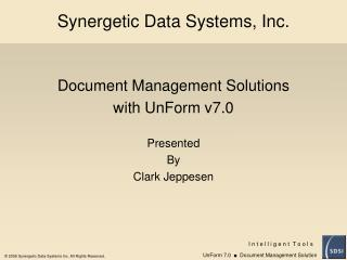 Synergetic Data Systems, Inc.