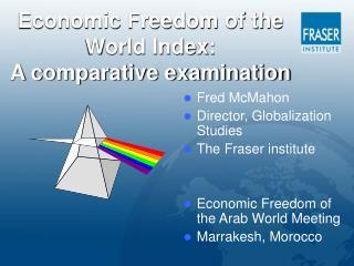 Economic Freedom of the World Index:  A comparative examination