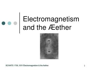 Electromagnetism and the  Æ ether