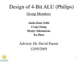 Design of 4-Bit ALU (Philips)