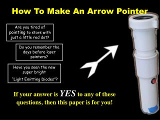 How To Make An Arrow Pointer