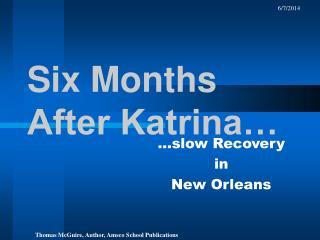 Six Months After Katrina…
