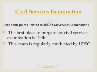 Importance of Civil Services Examination