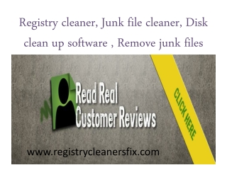 Registry cleaner|Junk file cleaner|Disk clean up software,Re