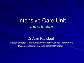 Intensive Care Unit Introduction