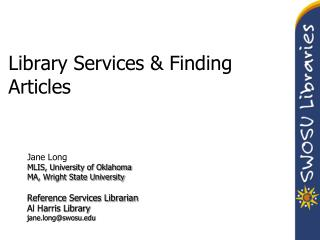 Library Services & Finding Articles