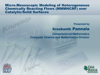 Micro-Mesoscopic Modeling of Heterogeneous Chemically Reacting Flows (MMMHCRF) over Catalytic/Solid Surfaces