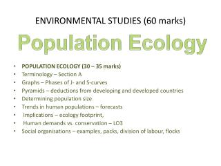 ENVIRONMENTAL STUDIES (60 marks)