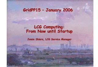 GridPP15 – January 2006
