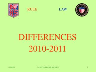 DIFFERENCES 2010-2011