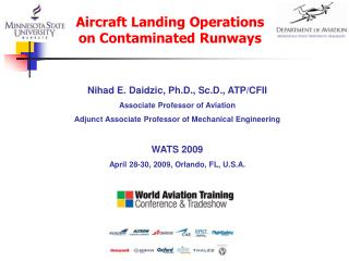 Nihad E. Daidzic, Ph.D., Sc.D., ATP/CFII Associate Professor of Aviation  Adjunct Associate Professor of Mechanical Engi
