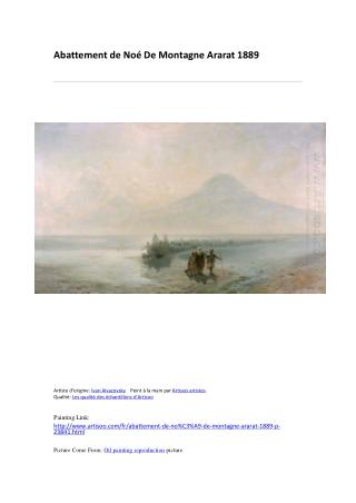 Abattement de Noé De Montagne Ararat 1889-peinture à l'huile