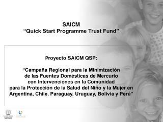 """SAICM """"Quick Start Programme Trust Fund"""""""