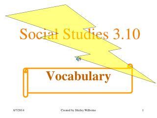 Social Studies 3.10