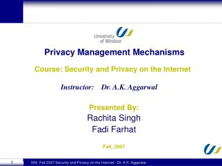 Privacy Management Mechanisms